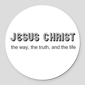 Jesus is the Way Round Car Magnet