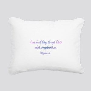 Philippians 4:13 Rectangular Canvas Pillow