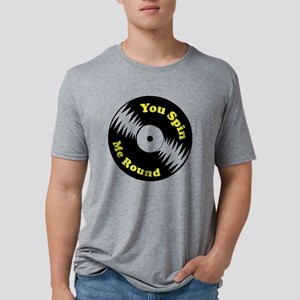 Spin Round Mens Tri-blend T-Shirt