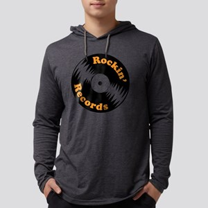Rockin' Records Mens Hooded Shirt