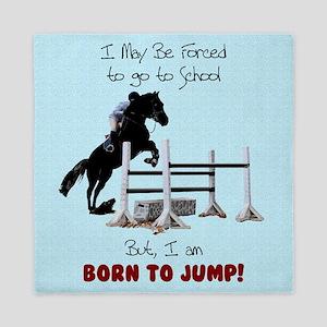 Fun Hunter Jumper Horse Queen Duvet