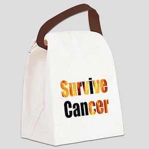 Survive Cancer Canvas Lunch Bag