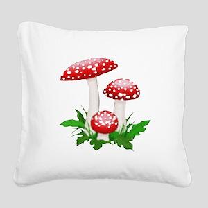 mushrooms Square Canvas Pillow