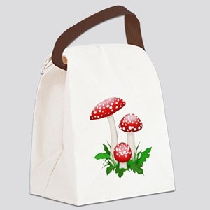 mushrooms Canvas Lunch Bag