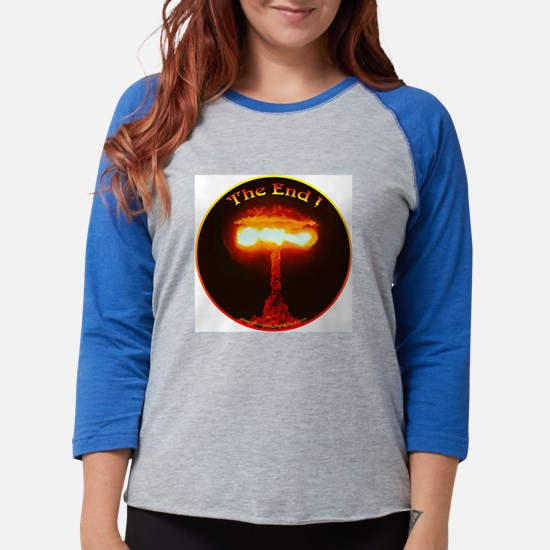 H-Bomb The End #2.png Womens Baseball Tee