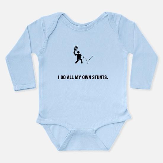 Racquetball Long Sleeve Infant Bodysuit