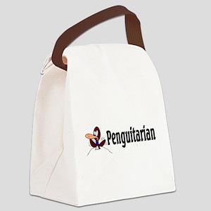penguitarian Canvas Lunch Bag