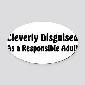 disguised2 Oval Car Magnet