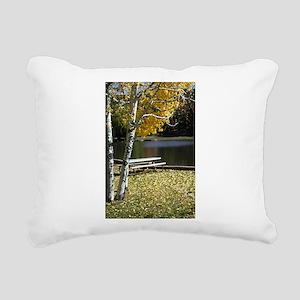 Picnic Table Rectangular Canvas Pillow
