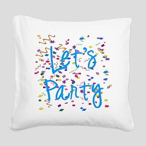 party Square Canvas Pillow
