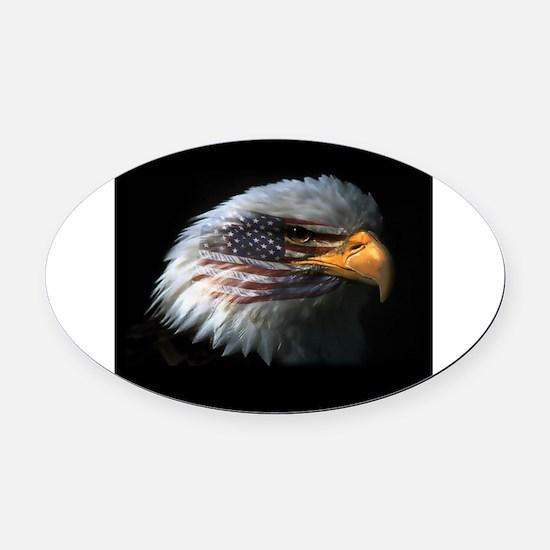 EagleRight Oval Car Magnet