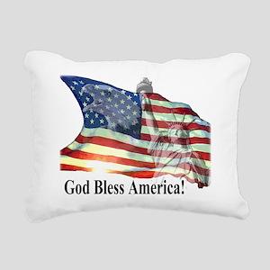 God Bless America! Rectangular Canvas Pillow