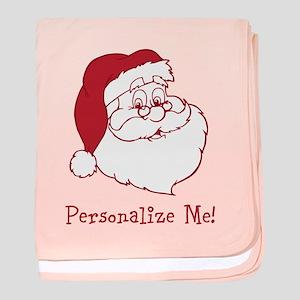 Retro Santa Claus baby blanket