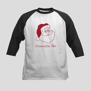 Retro Santa Claus Kids Baseball Jersey