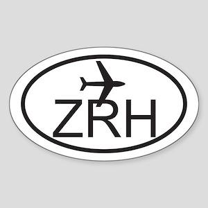 zurich airport Sticker (Oval)