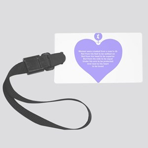 Women Created Heart Large Luggage Tag