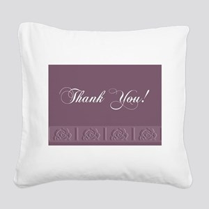 00trimrose1b Square Canvas Pillow