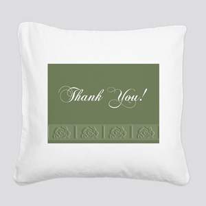 00trimrose1a Square Canvas Pillow