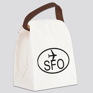 san fran airport Canvas Lunch Bag