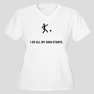 Kickball Women's Plus Size V-Neck T-Shirt