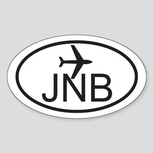 johannesburg airport Sticker (Oval)