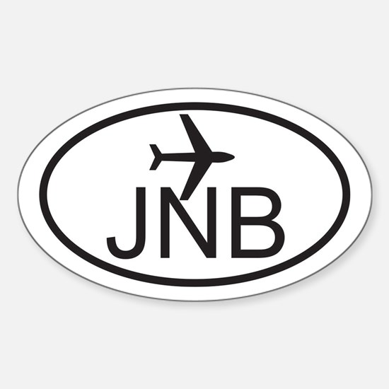 johannesburg airport.jpg Sticker (Oval)