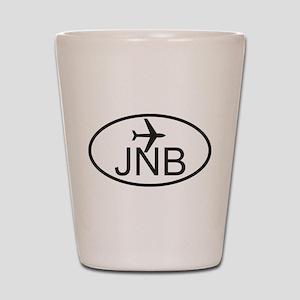 johannesburg airport Shot Glass