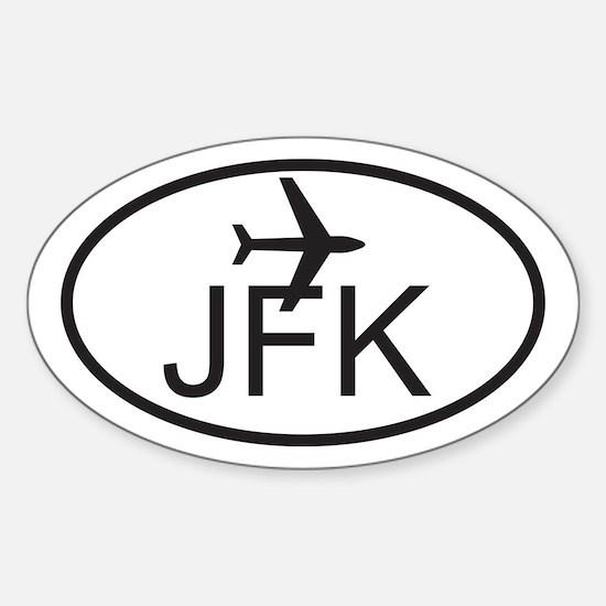 jfk airport.jpg Sticker (Oval)