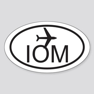 isle of man airport Sticker (Oval)
