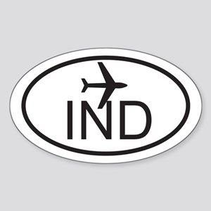 indianapolis airport Sticker (Oval)