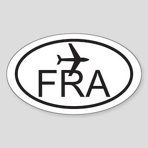 frankfurt airport Sticker (Oval)