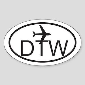 detroit airport Sticker (Oval)