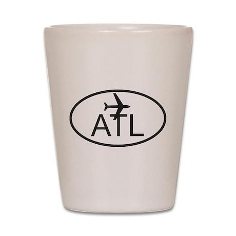 atlanta airport Shot Glass