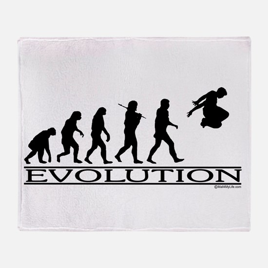 Evolution Parkour Throw Blanket