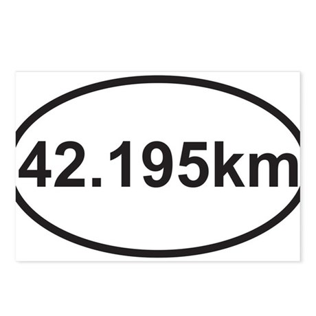 42195 km marathon.jpg Postcards (Package of 8)