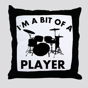 Cool Drums designs Throw Pillow