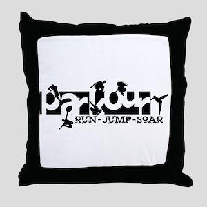 Parkour Throw Pillow