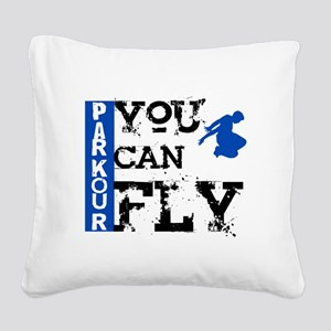 Parkour - You Can Fly Square Canvas Pillow