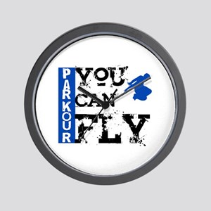 Parkour - You Can Fly Wall Clock