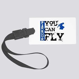 Parkour - You Can Fly Large Luggage Tag