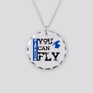 Parkour - You Can Fly Necklace Circle Charm