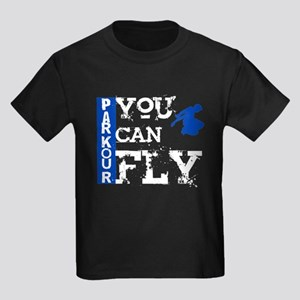 Parkour - You Can Fly Kids Dark T-Shirt