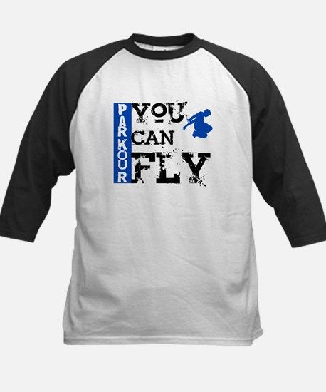 Parkour - You Can Fly Kids Baseball Jersey