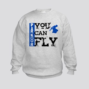 Parkour - You Can Fly Kids Sweatshirt