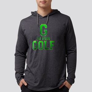 G is for Golf black Mens Hooded Shirt