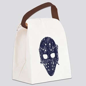 Vintage Hockey Goalie Mask (dark) Canvas Lunch Bag