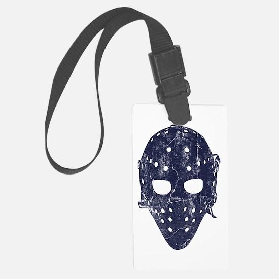 Vintage Hockey Goalie Mask (dark) Luggage Tag