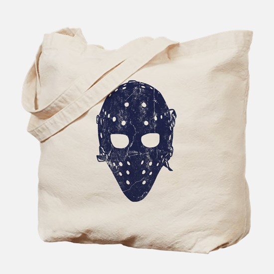 Vintage Hockey Goalie Mask (dark) Tote Bag
