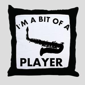 Cool Saxophone designs Throw Pillow