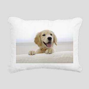 puppy Rectangular Canvas Pillow